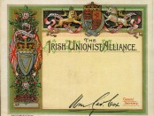 Irish Unionist Alliance membership Card