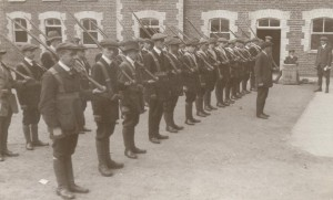 Ulster Volunteers of the Portadown Battalion at drill