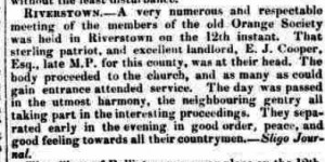 Riverstown 12th Report 1845