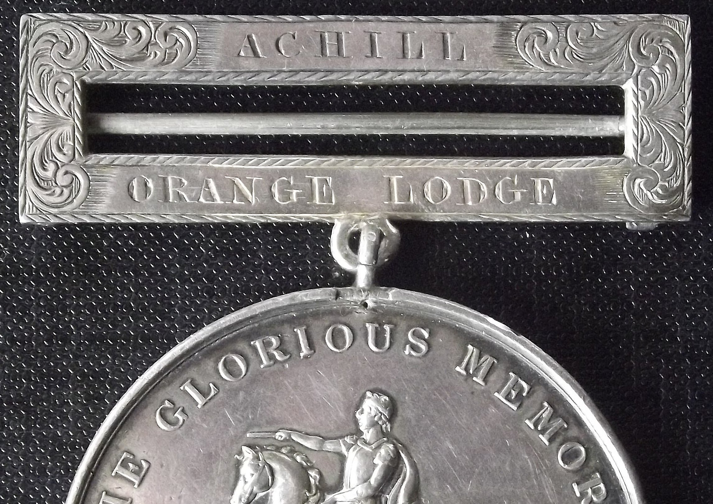 Achill Island Orange Lodge1854 medal (private   collection)