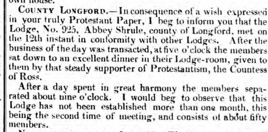 Longford 12th , the Morning Post 17 7 1832